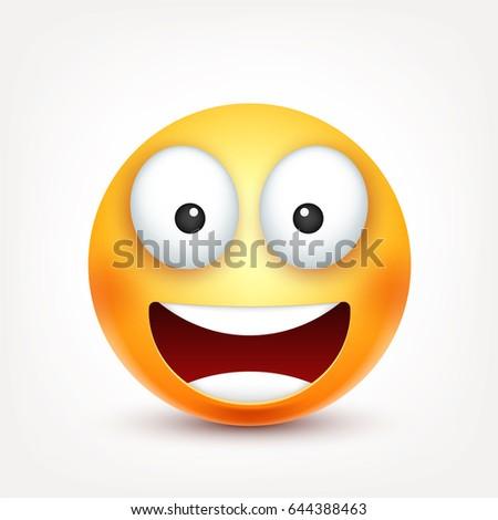 Smileysmiling Emoticon Yellow Face Emotions Facial Vector De Stock