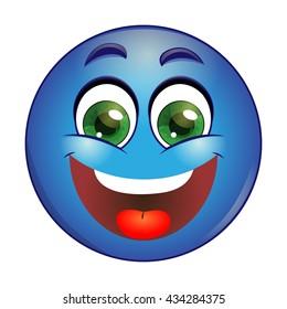 Smiling Blue emoticon