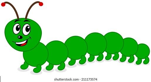 a smiling centipede