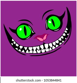 Smiling Cheshire cat color pattern