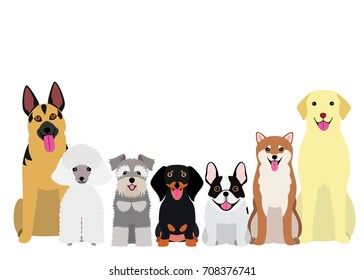 smiling dogs group
