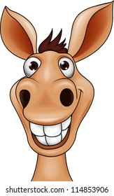 Smiling donkey head