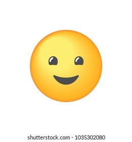 Smiling emoji with open mouth vector icon