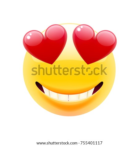 Heart eyes emoticon