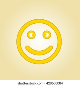 smiling face icon vector