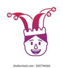 smiling face man with glasses and jester hat