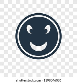 Smiling Face vector icon isolated on transparent background, Smiling Face transparency logo concept