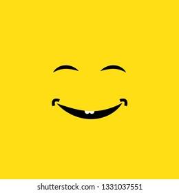 smiling face vector illustration