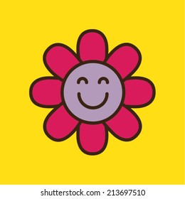 Smiling flower icon