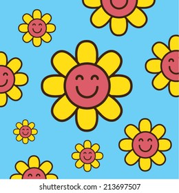 Smiling flower pattern