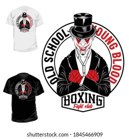 Smiling Joker street fighter. Urban warrior. Young blood. Boxer of the old school. Illustrations for t shirt print. Set of hand drawn sport logos, badges, labels, poster. Black tattoo.
