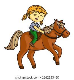 Riding Horse Cartoon Images Stock Photos Vectors Shutterstock