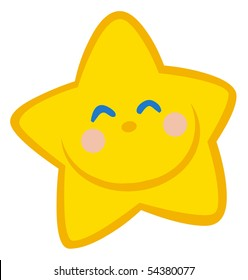 Smiling Little Star Cartoon Character