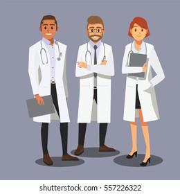 Smiling medical doctors team