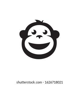the smiling monkey logo that looks happy