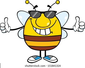 0dda79768d Royalty Free Stock Illustration of Black White Pudgy Bee Sunglasses ...