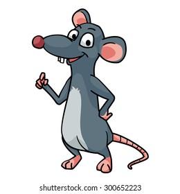 Smiling rat vector art and illustration.