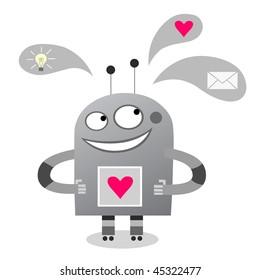 Smiling robot - vector