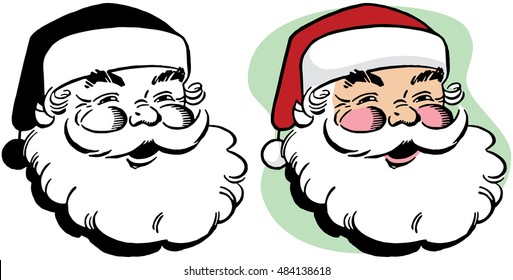 A smiling Santa Claus portrait