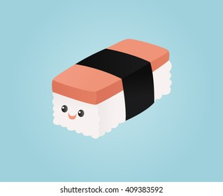 Smiling spam musubi
