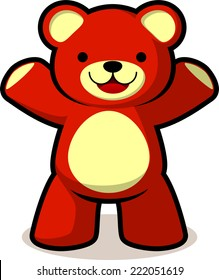 Smiling teddy bear vector cartoon