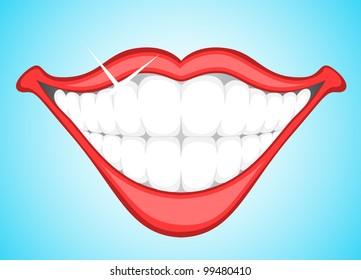 Smiling Teeth Clip Art