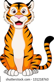 Smiling tiger cartoon