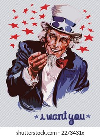 Smiling Uncle Sam (removable text)