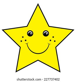 Smiling Yellow Star