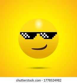 Smirking Face Emoji with Sunglasses