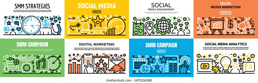 Smm Banner Images, Stock Photos & Vectors | Shutterstock
