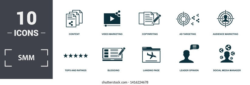 Smm Icon Set Images, Stock Photos & Vectors | Shutterstock