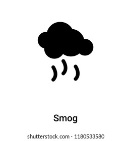 Smog icon vector isolated on white background, logo concept of Smog sign on transparent background, filled black symbol