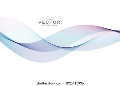 Smoke abstract background with curve shape. Usable for poster, wallpaper, cover and flyer. Colored wave lines like smoke. Colorful fluid poster.