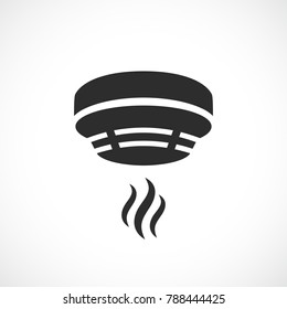 Smoke alarm system vector symbol isolated on white background