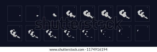 kouření animace