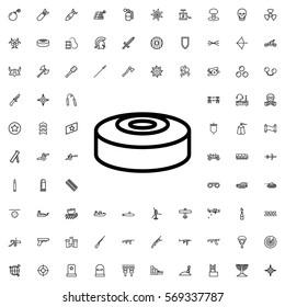 smoke bomb icon illustration isolated vector sign symbol