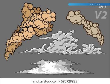 smoke and cloud