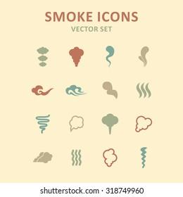 Smoke and cloud icons