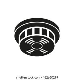 Smoke detector icon, vector illustration