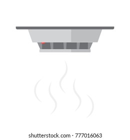 Smoke detector icon. Vector image isolated on white background.