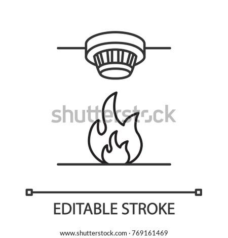 fire alarm smoke detector symbol