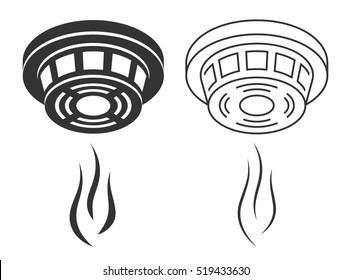 Smoke detector silhouette