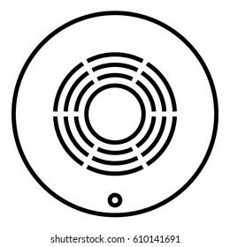 Smoke Detector. Vector Design.