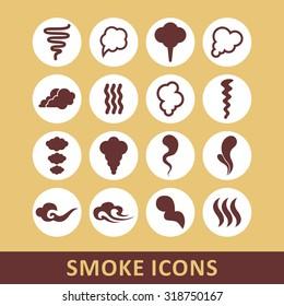 Smoke icon set