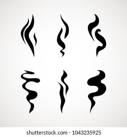 Smoke puff vector icon set illustration isolated on white background. hot eps vector icon. Flat web design element for website or app.