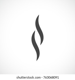Smoke silhouette vector icon on white background