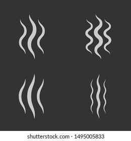 Smoke steam icon set isolated. Vector illustration