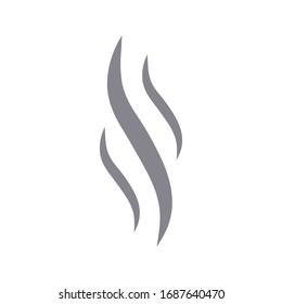 Smoke steam vector icon illustration