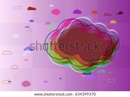 smoke template elements stock vector royalty free 634399370